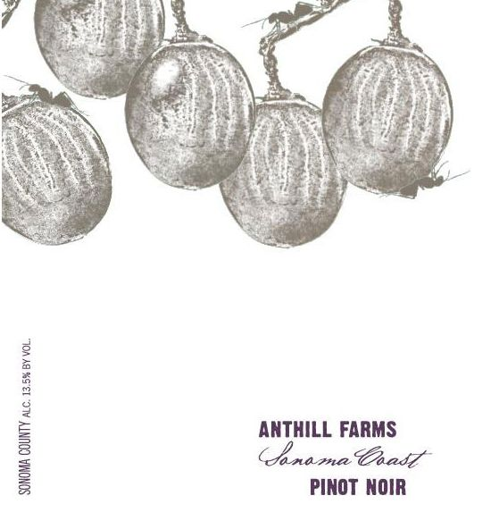 Anthill Farms Sonoma Coast Pinot Noir 2017  Front Label
