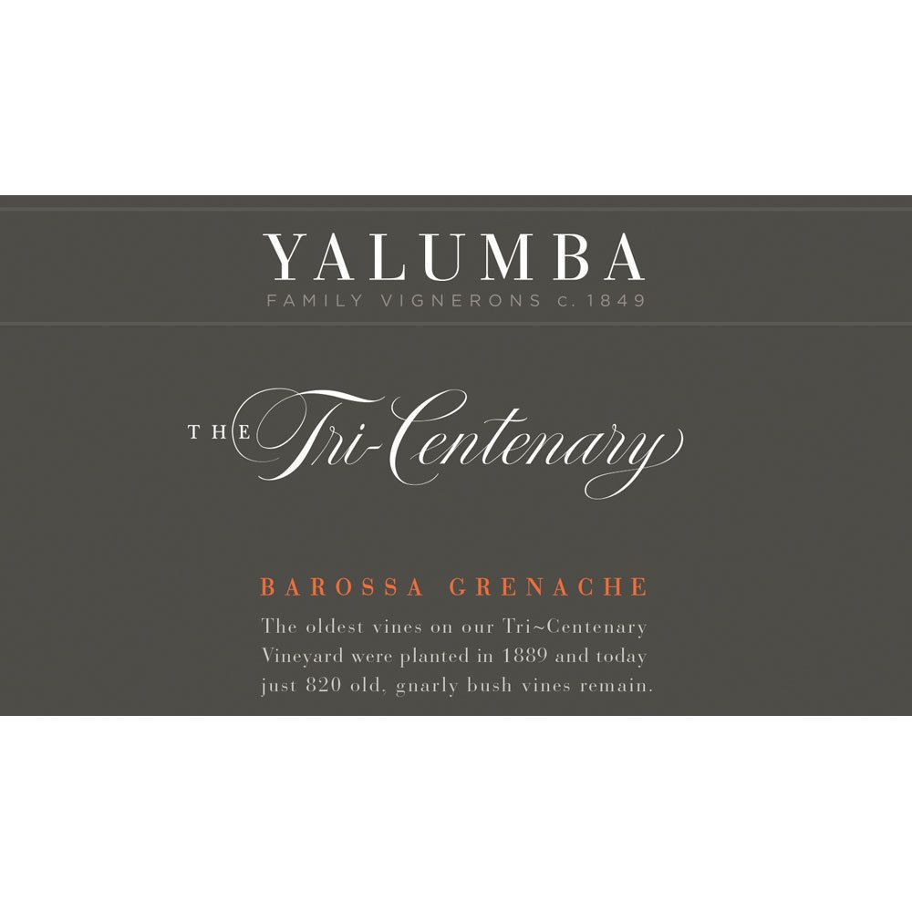 Yalumba Tri-Centenary Vineyard Grenache 2013  Front Label