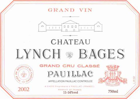 Chateau Lynch-Bages  2002 Front Label
