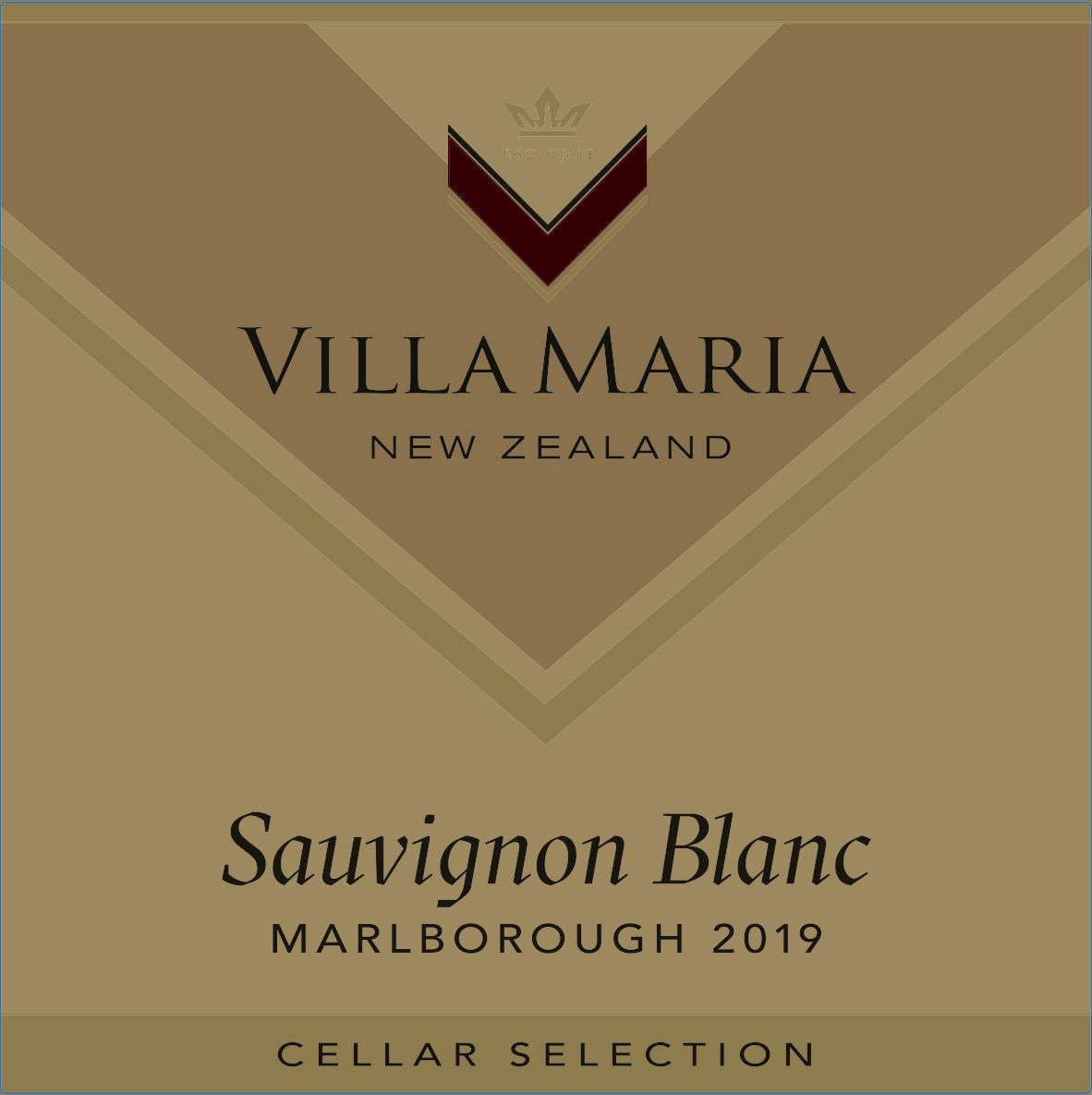 Villa Maria Cellar Selection Sauvignon Blanc 2018  Front Label