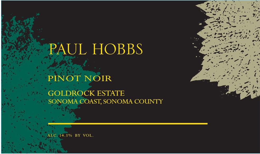 Paul Hobbs Goldrock Estate Pinot Noir 2017 Front Label