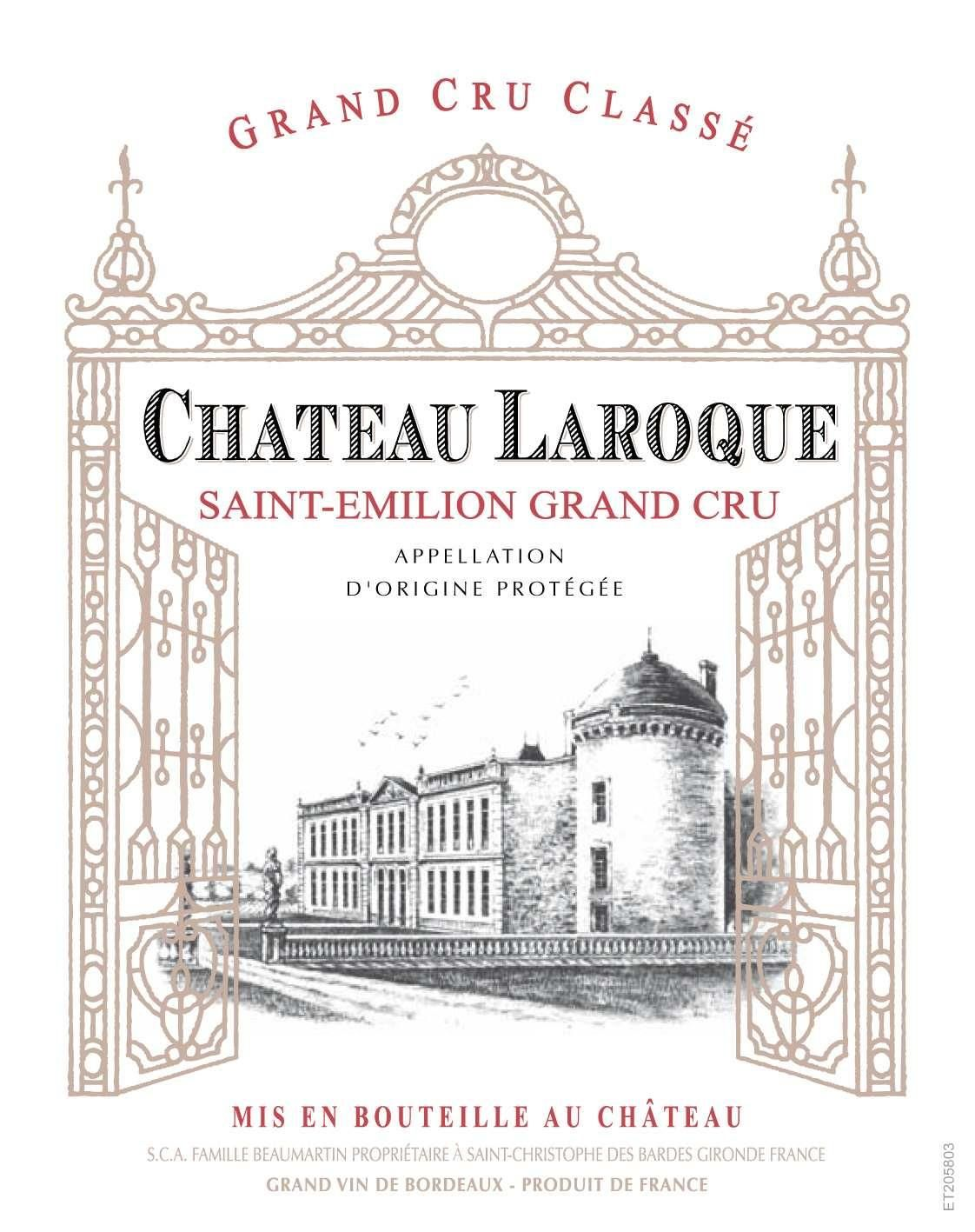 Chateau Laroque  2015  Front Label