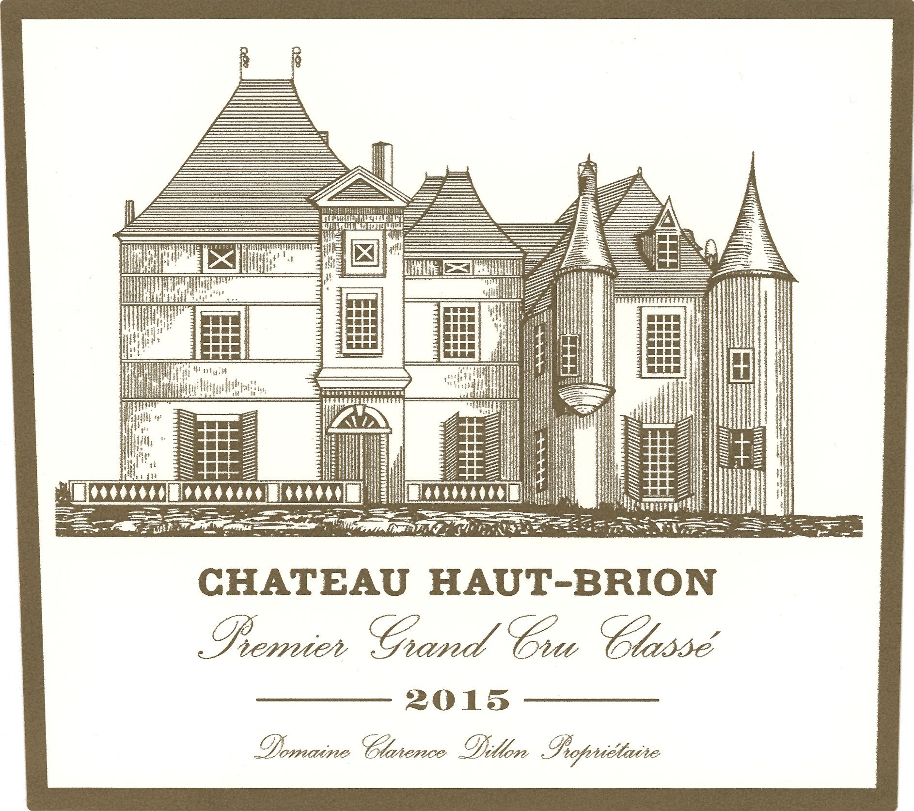Chateau Haut-Brion  2015 Front Label