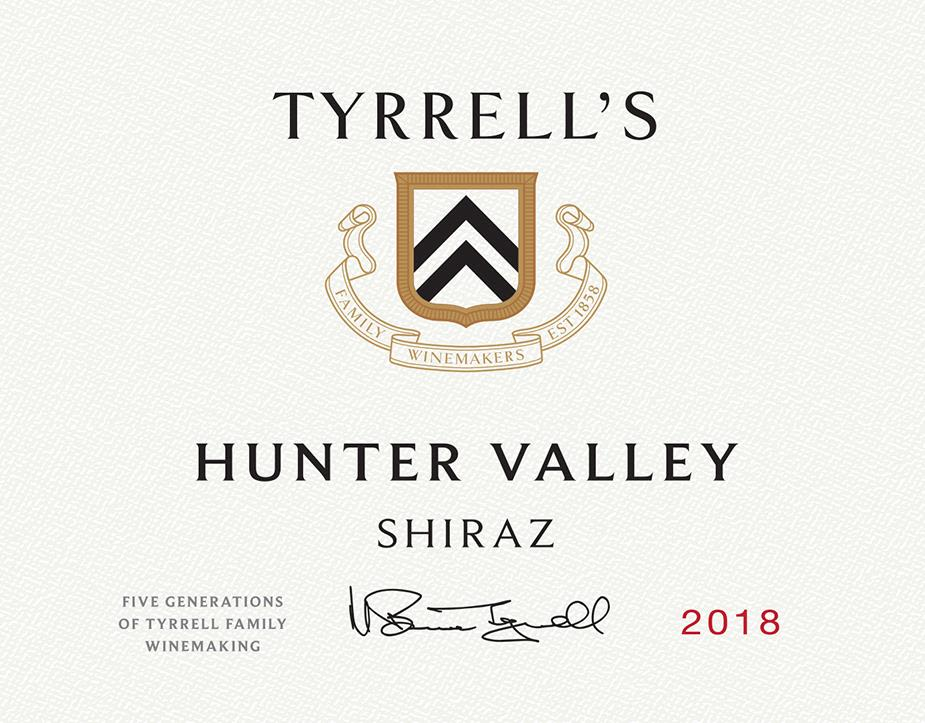 Tyrrell's Hunter Valley Shiraz 2018  Front Label