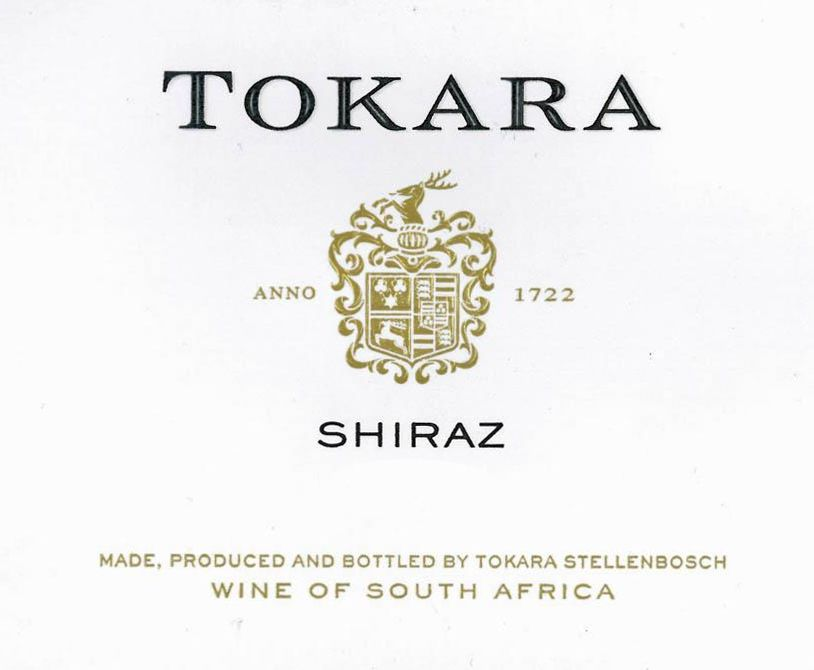 Tokara Shiraz 2016  Front Label