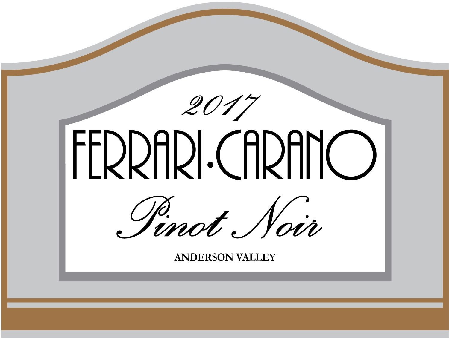 Ferrari-Carano Anderson Valley Pinot Noir 2017  Front Label