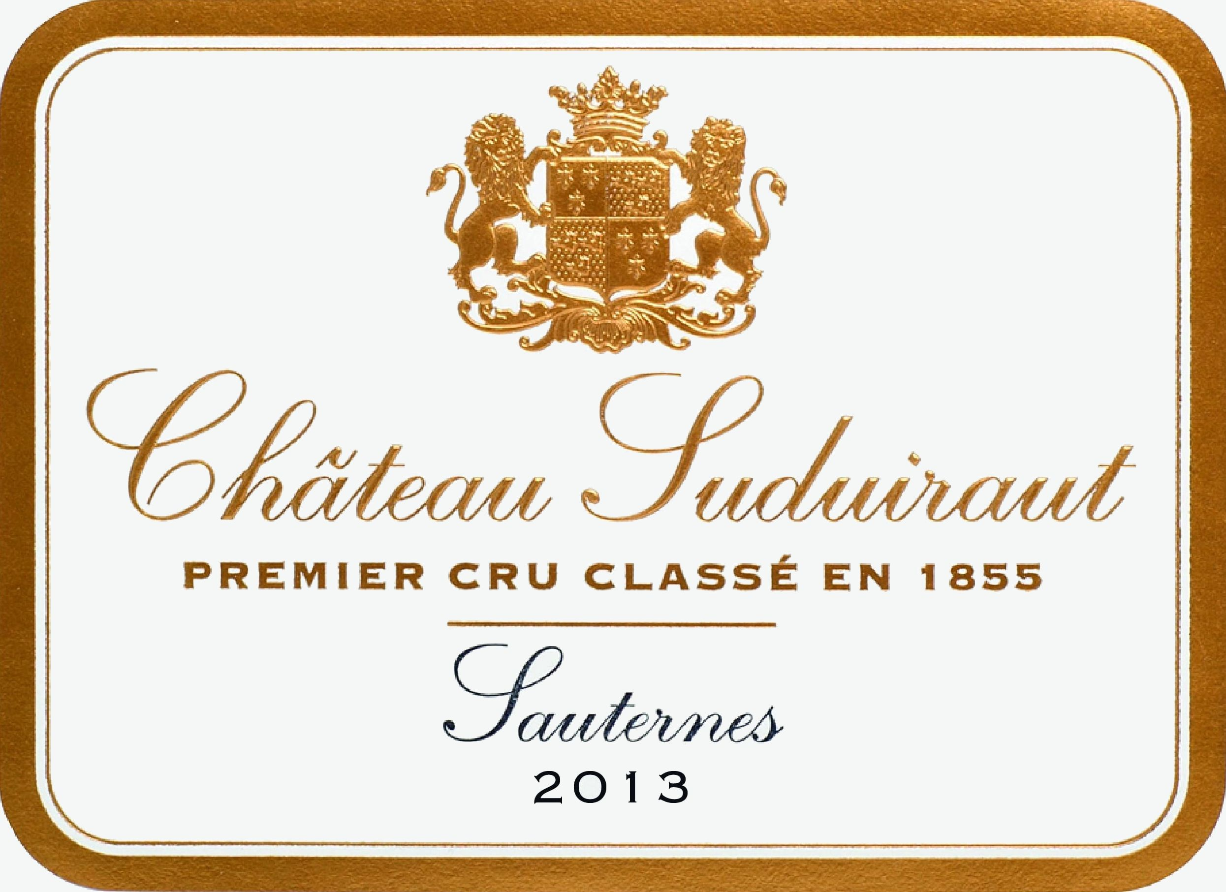 Chateau Suduiraut Sauternes (375ML half-bottle) 2013 Front Label