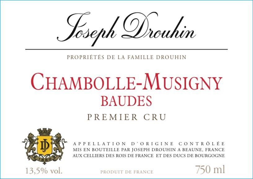 Joseph Drouhin Chambolle Musigny Baudes Premier Cru 1998  Front Label