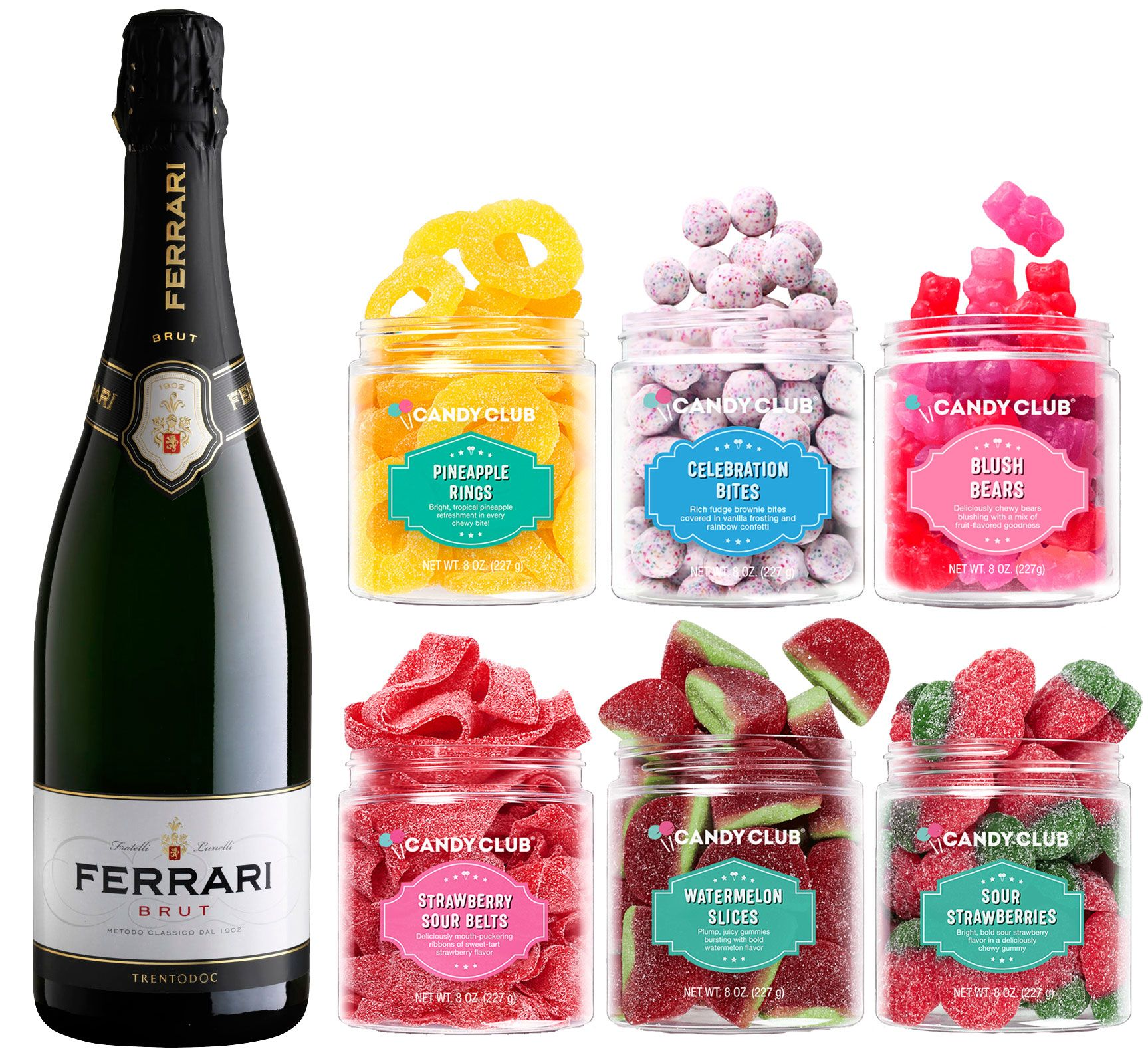 wine.com Ferrari Brut and Candy Club Gift Set  Gift Product Image
