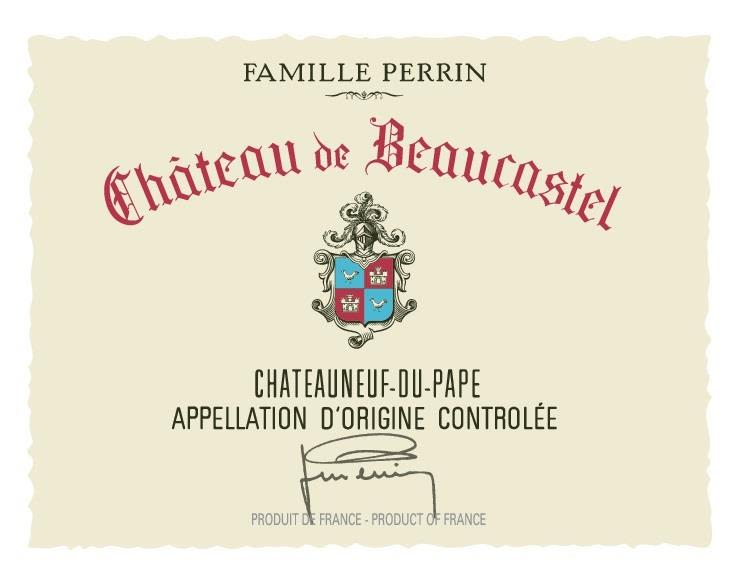 Chateau de Beaucastel Chateauneuf-du-Pape (375ML half-bottle) 2018  Front Label