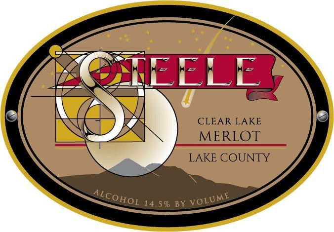 Steele Clear Lake Merlot 2012  Front Label