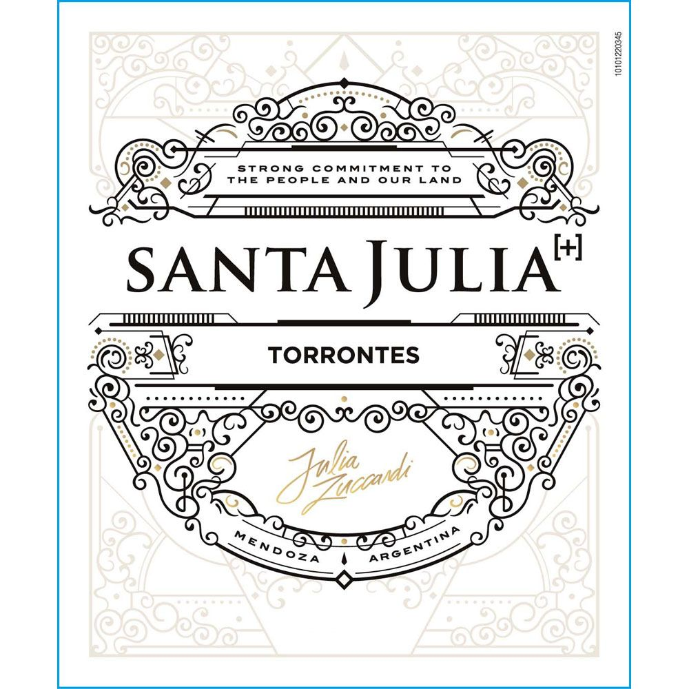 Santa Julia Plus Torrontes 2019  Front Label