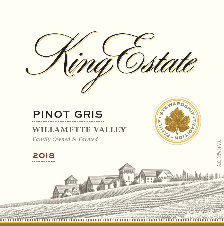 King Estate Willamette Valley Pinot Gris 2018  Front Label