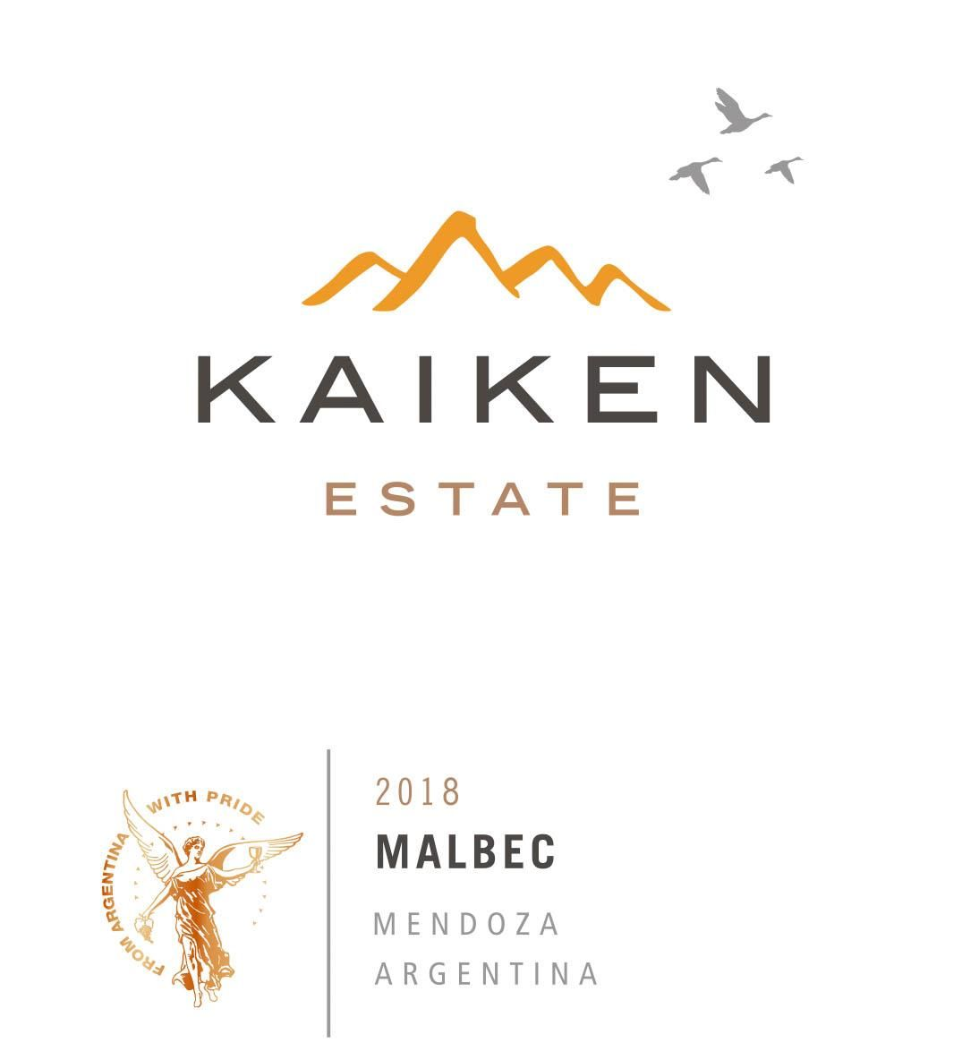 Kaiken Estate Malbec 2018 Front Label