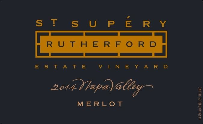 St. Supery Rutherford Merlot 2015  Front Label