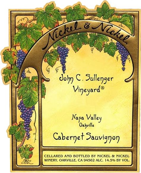 Nickel & Nickel Sullenger Vineyard Cabernet Sauvignon 1999  Front Label