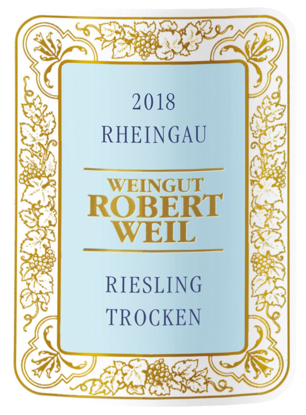 Robert Weil Estate Riesling Trocken 2018  Front Label