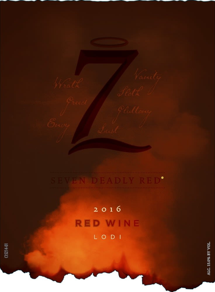 7 Deadly Red 2016  Front Label