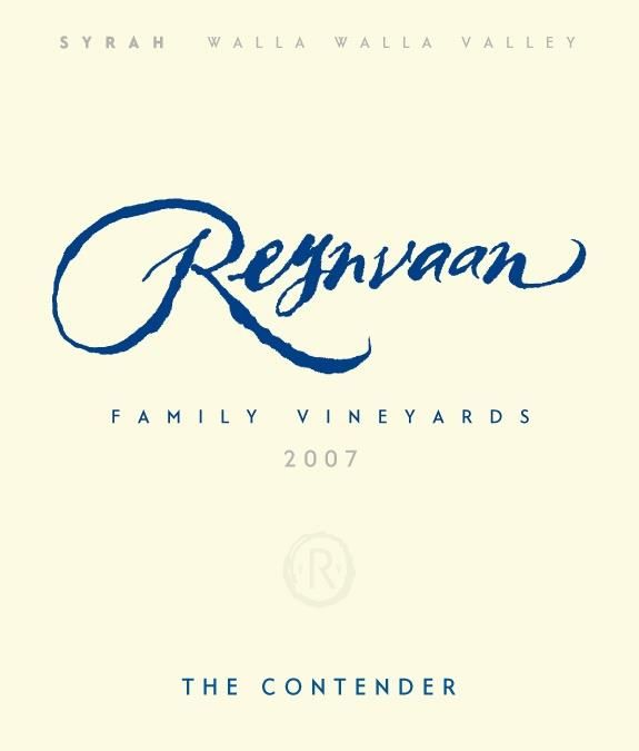 Reynvaan The Contender Syrah 2007  Front Label