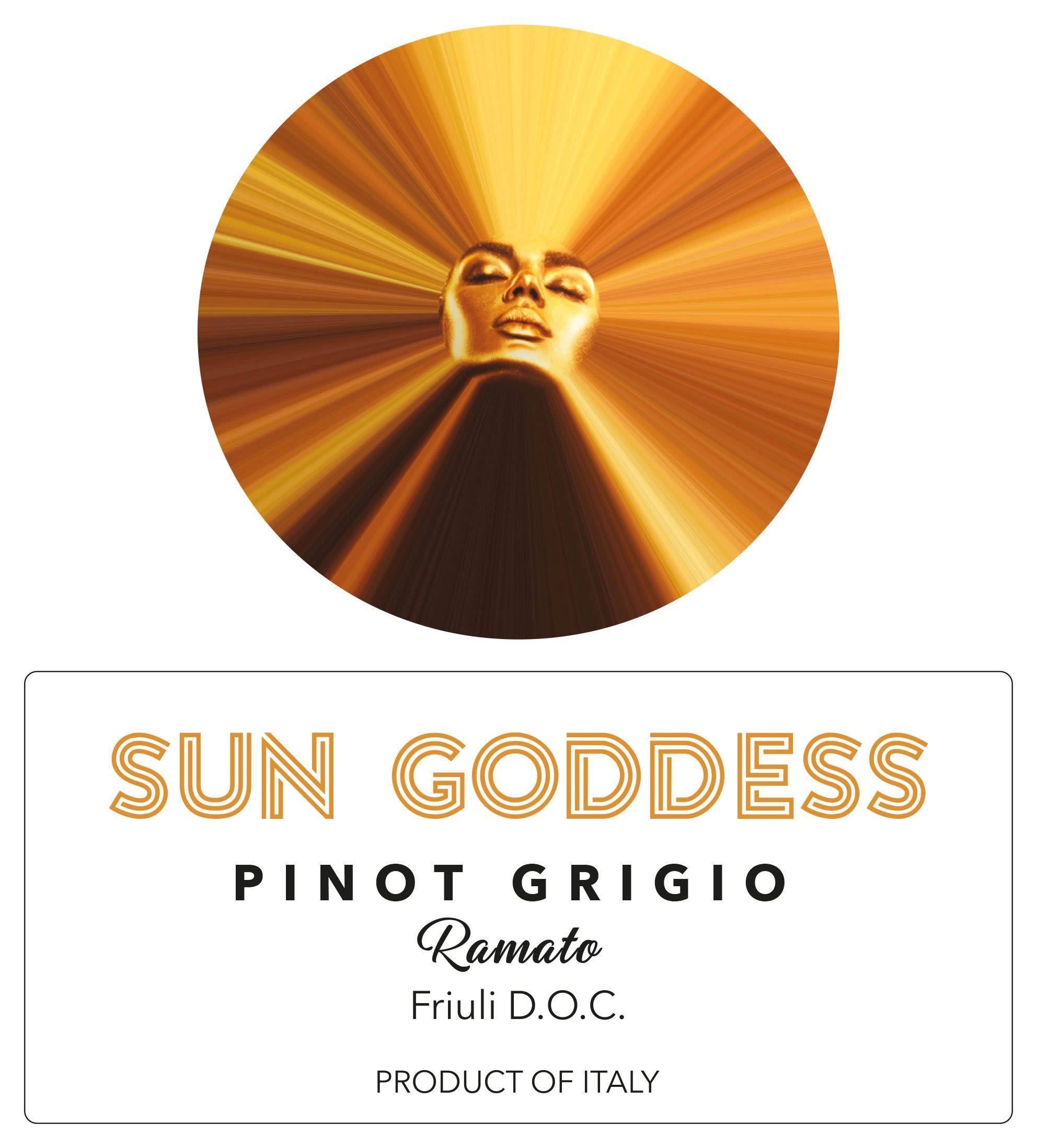 Sun Goddess by Mary J Blige Pinot Grigio Ramato 2019 Front Label