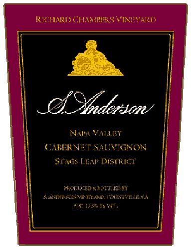 S. Anderson Richard Chambers Vineyard Cabernet Sauvignon 1993 Front Label