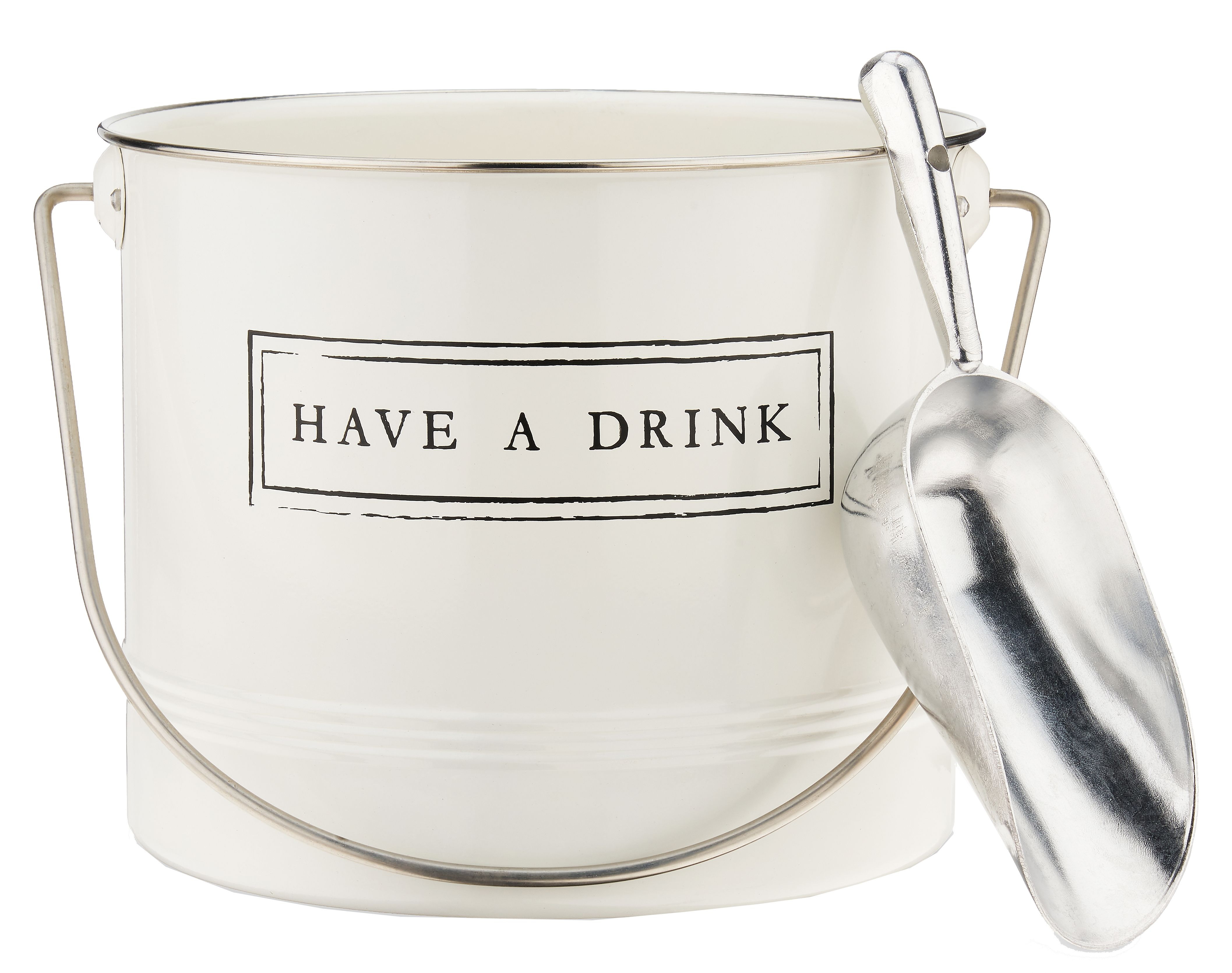 wine.com Have a Drink Ice Bucket and Scoop  Gift Product Image