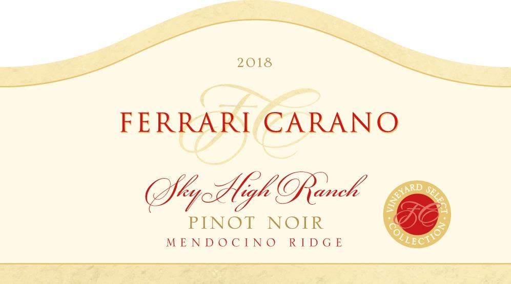 Ferrari-Carano Sky High Ranch Pinot Noir 2018  Front Label