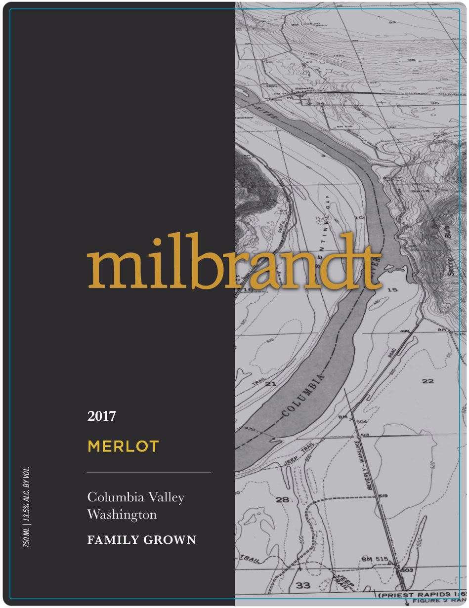 Milbrandt Traditions Merlot 2017  Front Label