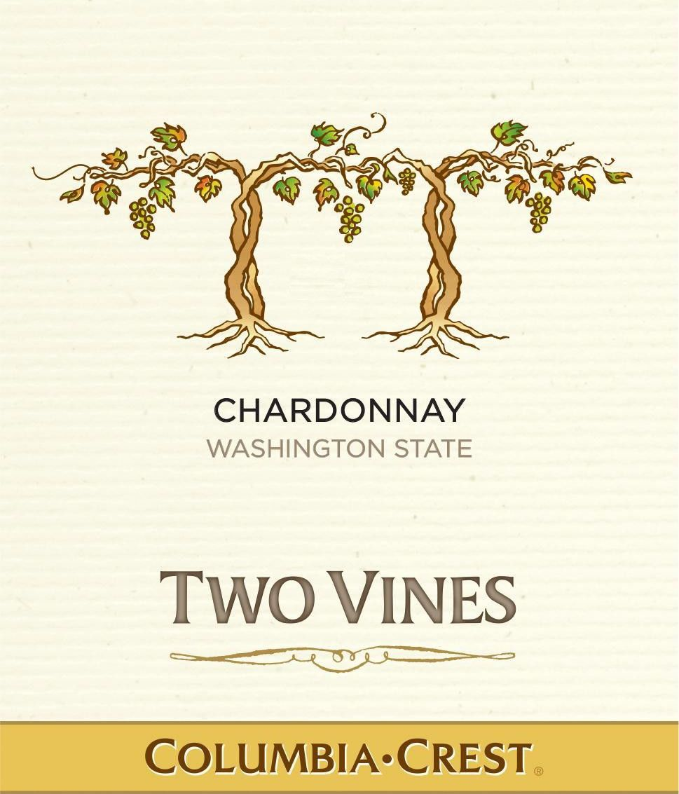 Two Vines Chardonnay 2015 Front Label