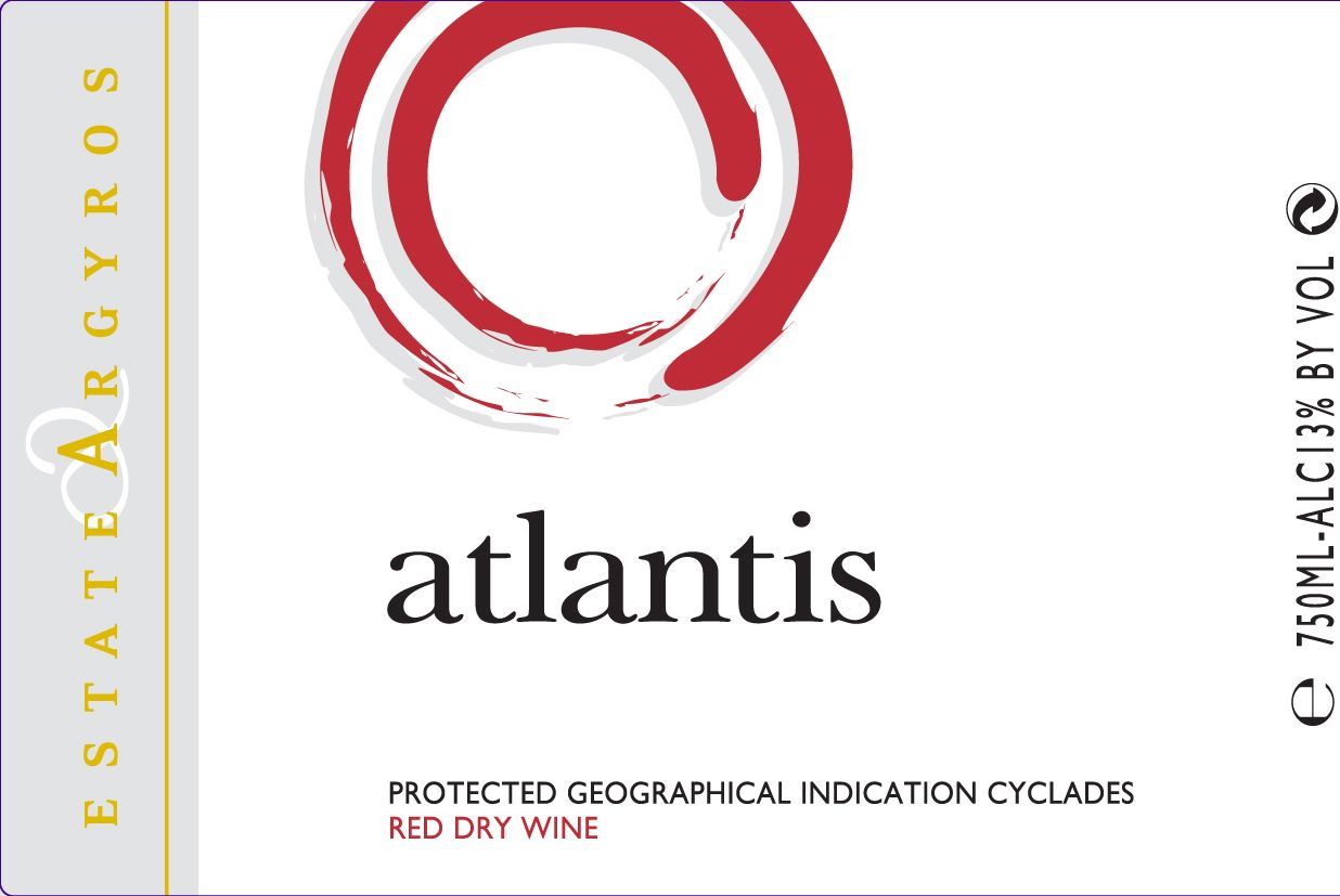 Argyros Atlantis Red 2017  Front Label
