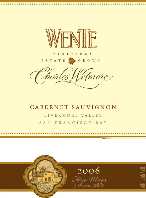 Wente Charles Wetmore Cabernet Sauvignon 2006  Front Label