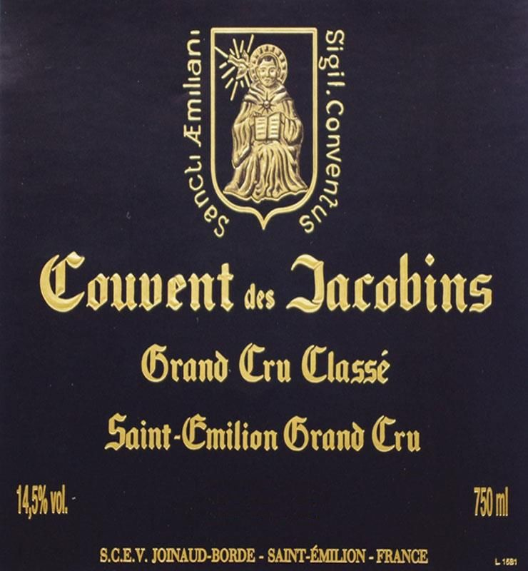 Couvent des Jacobins (Futures Pre-Sale) 2018 Front Label