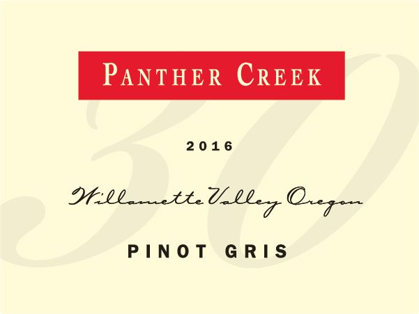 Panther Creek Pinot Gris 2016 Front Label