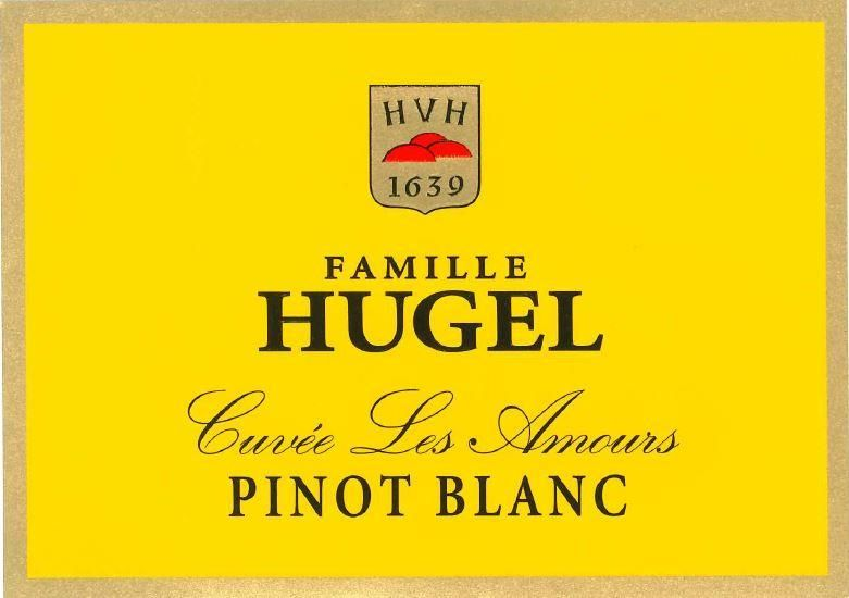 Hugel Pinot Blanc Cuvee Les Amours 2016 Front Label