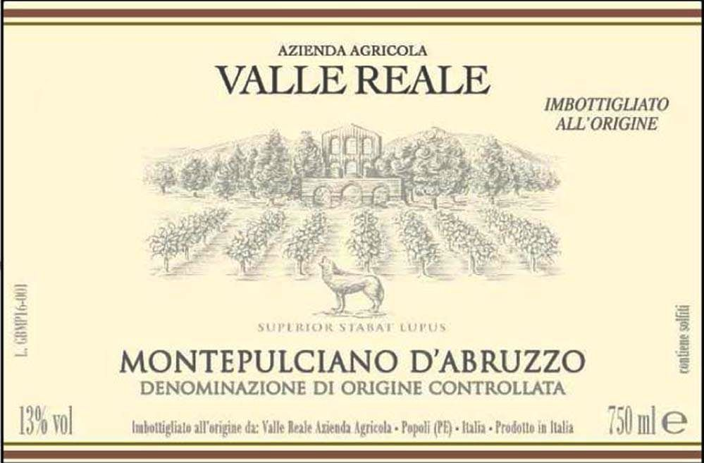 Valle Reale Montepulciano d'Abruzzo 2019  Front Label