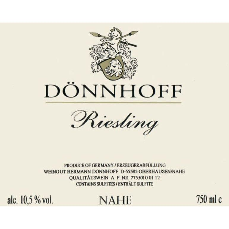 Donnhoff Estate Riesling 2018  Front Label