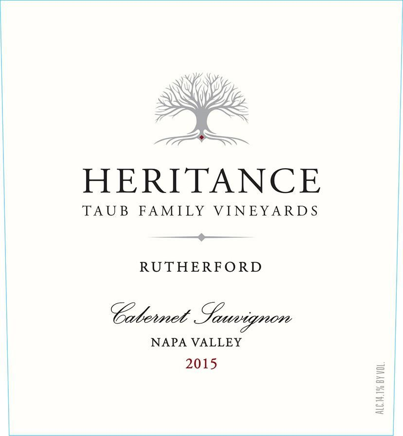 Heritance Rutherford Cabernet Sauvignon 2015 Front Label