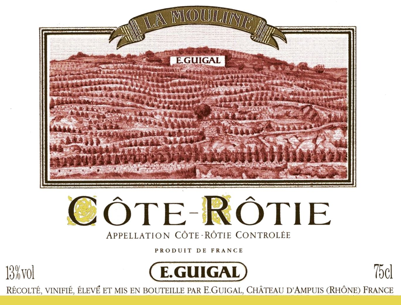 Guigal La Mouline Cote Rotie 2015 Front Label