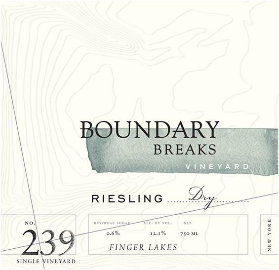 Boundary Breaks No.239 Riesling 2018  Front Label