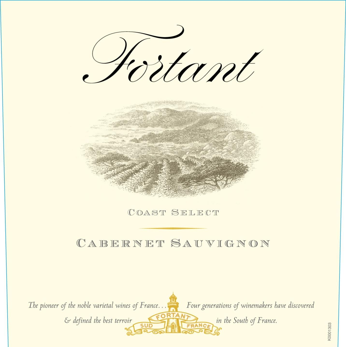 Fortant Coast Select Cabernet Sauvignon 2017 Front Label