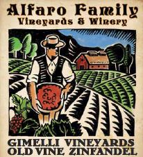 Alfaro Family Gimelli Vineyards Old Vine Zinfandel 2018  Front Label