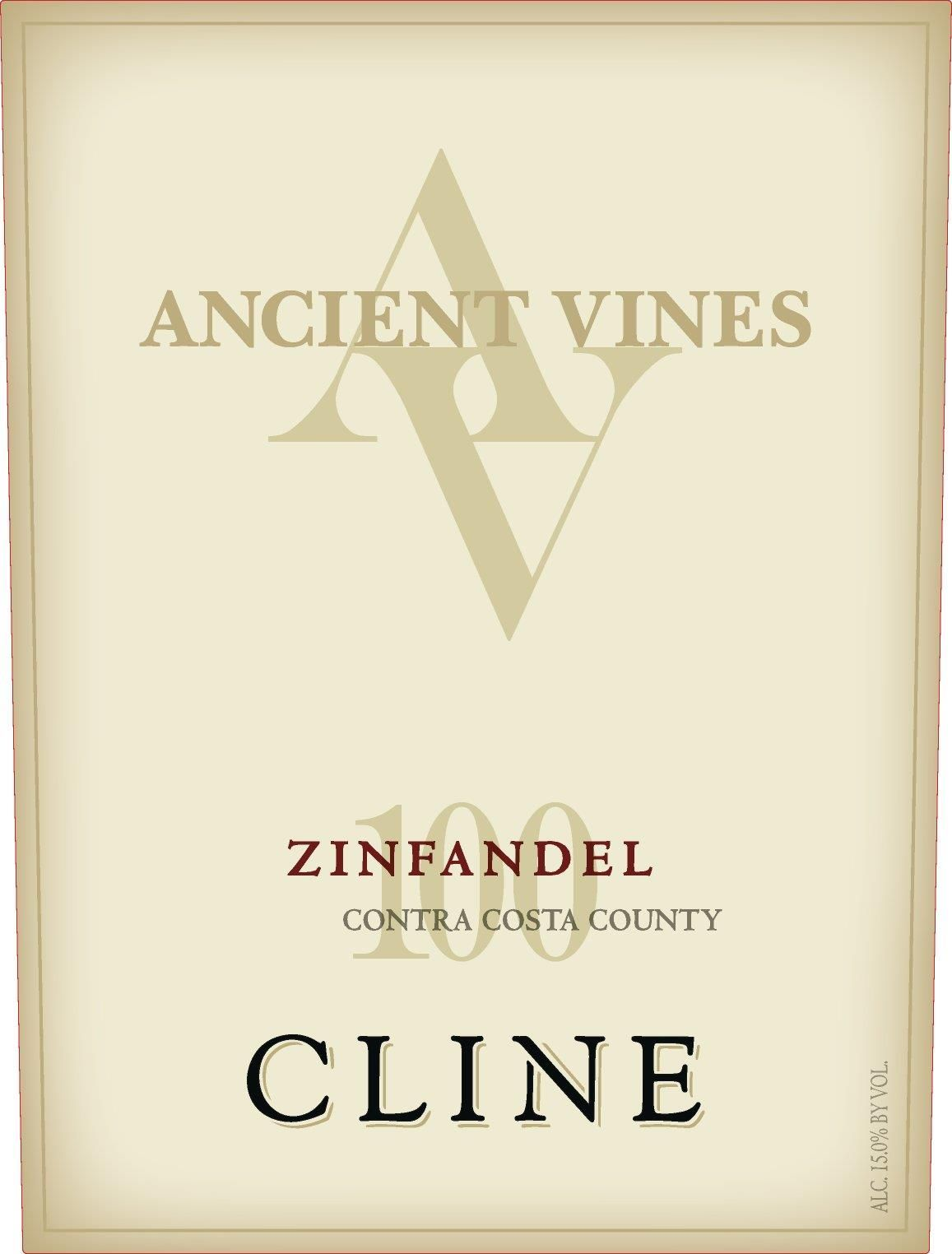 Cline Ancient Vines Zinfandel 2018  Front Label