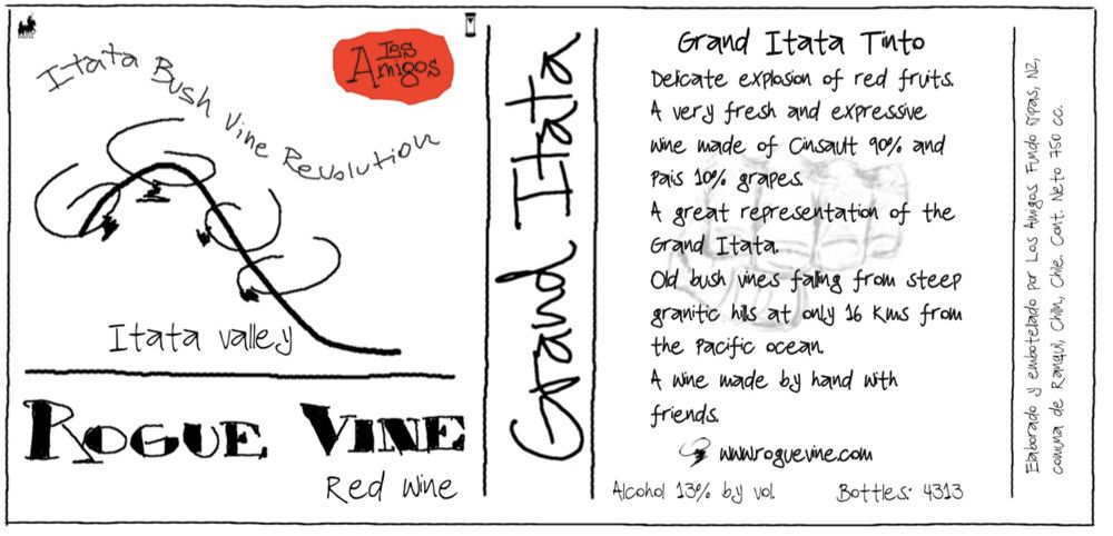 Rogue Vine Grand Itata Tinto 2019  Front Label
