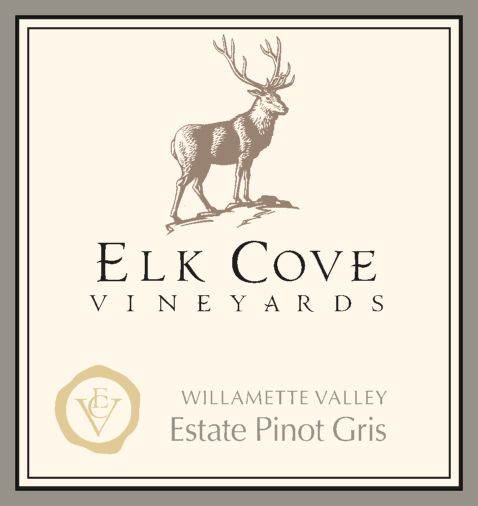 Elk Cove Pinot Gris 2019  Front Label