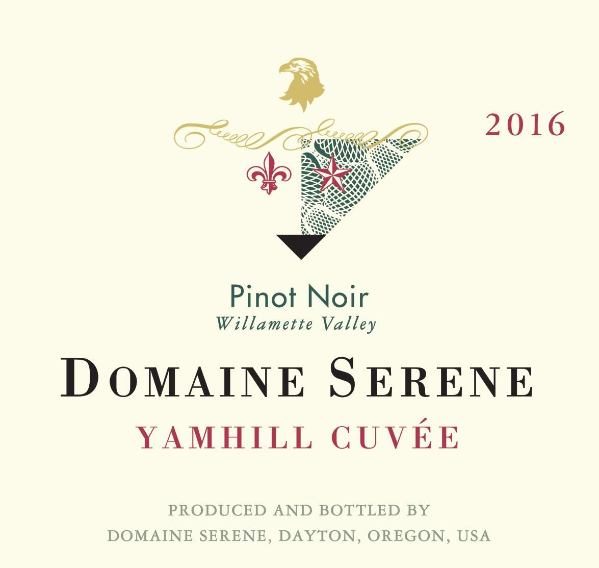 Domaine Serene Yamhill Cuvee Pinot Noir 2016 Front Label