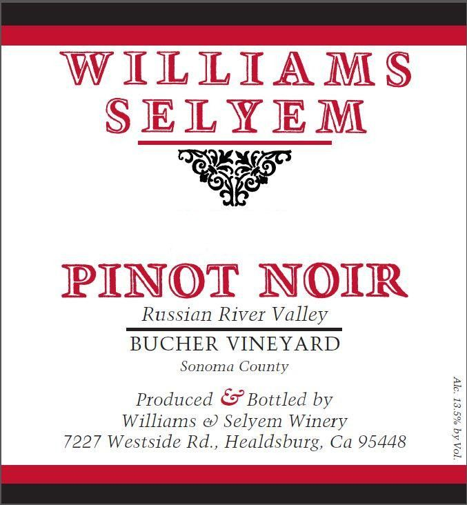 Williams Selyem Bucher Vineyard Pinot Noir 2017  Front Label