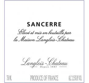 Langlois Chateau Sancerre 2018  Front Label