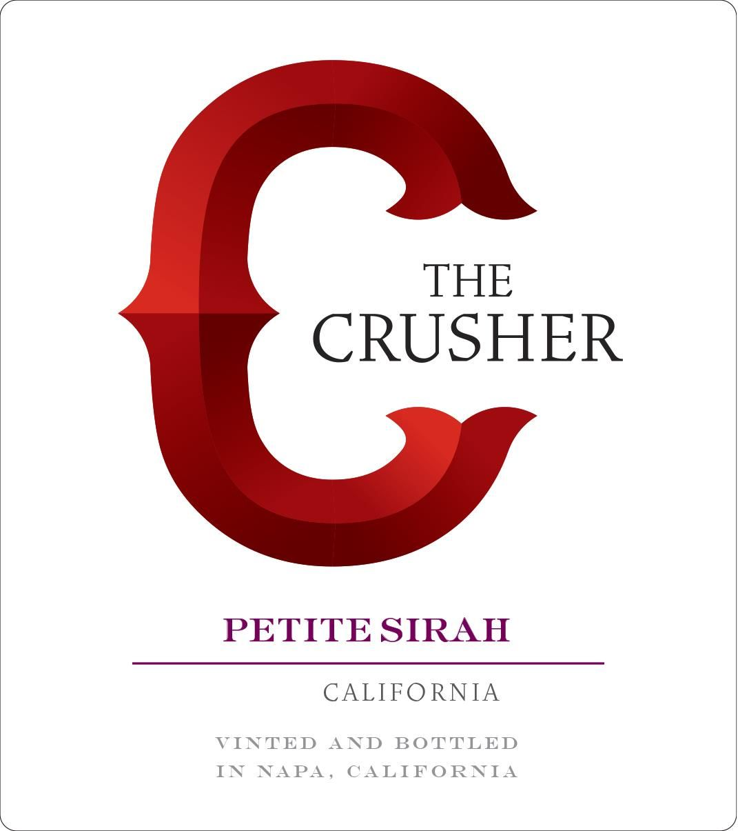 The Crusher Petite Sirah 2017  Front Label