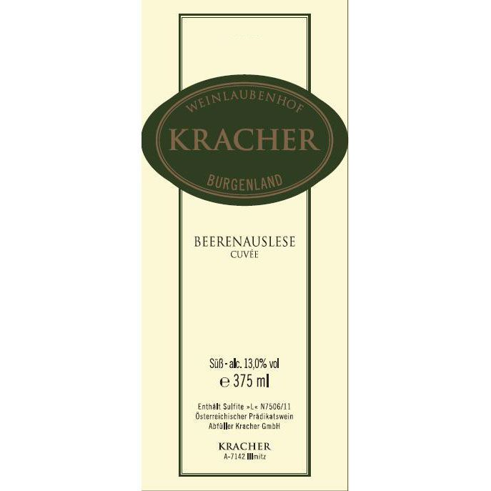 Kracher Cuvee Beerenauslese (375ML half-bottle) 2017  Front Label