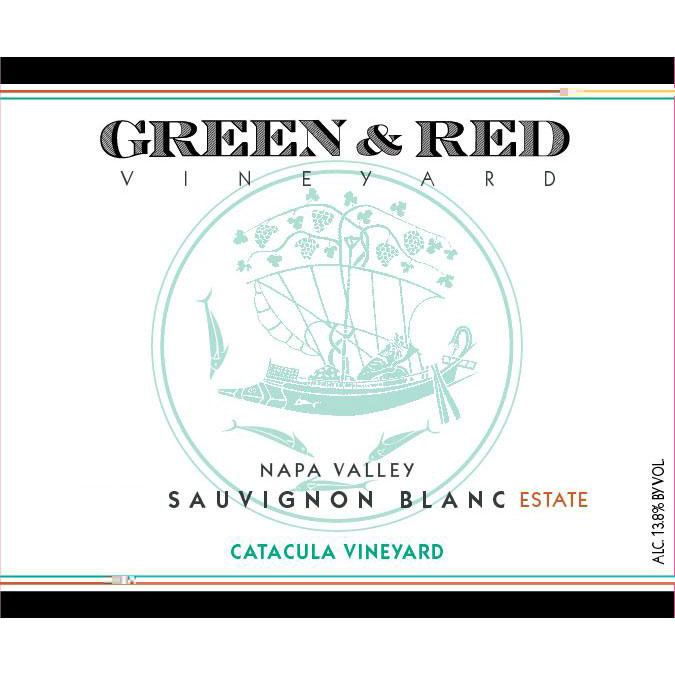 Green & Red Catacula Vineyard Sauvignon Blanc 2017  Front Label